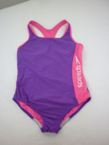 Speedo girl Swimsuit purple pink white -Size 12