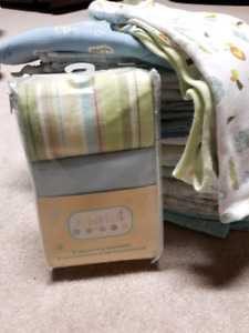 Receiving blankets burping pads hooded towels wash cloth $1 each