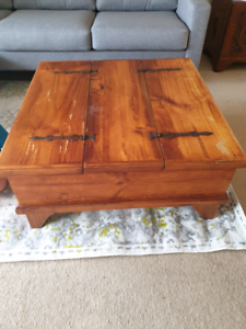 Timber Coffee Table with Storage