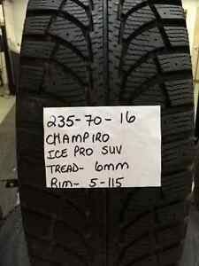 235-70-16 CHAMPIRO ICE PRO SUV SNOW TIRES & RIMS
