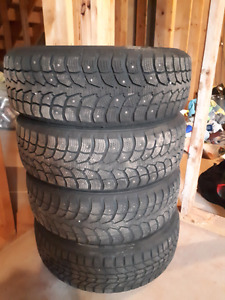 """14"""" Studded winter tires and rims"""