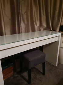 Ikea Malm dressing with glass protective top
