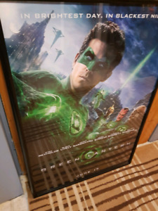 GREEN LANTERN MOVIE POSTER FRAMED