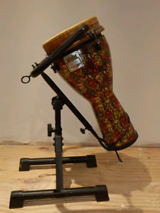 Djembe with stand