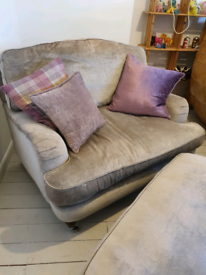 Laura ashley snuggler chair and pouffe