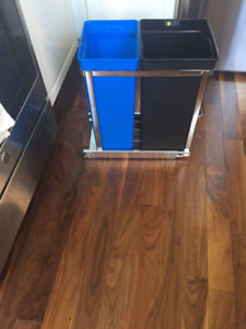 SIMPLE HUMAN DOUBLE GARBAGE/RECYCLING UNDER SINK CAN $80