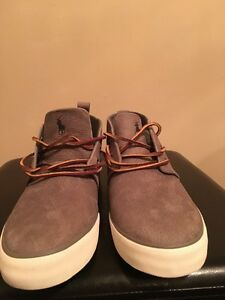 Ralph Lauren polo shoes-grey *size 10.5 *never worn