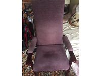 A J Way & co upright Fireside chair