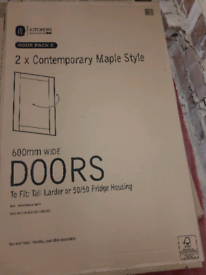 B&Q maple larder door fronts