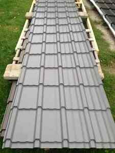 10-10ft Sheets of Brand New Black Shake Style Steel Roofing