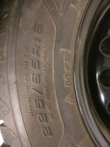 225 65R16 Goodyear Nordic New Winter Tires & New Rims