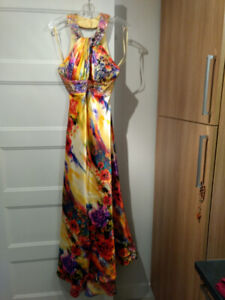 Robe de bal longue, exotique