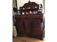 Victorian Mahogany antique solid wood chiffonier