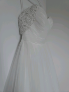 Size 12 ivory off the shoulder wedding gown