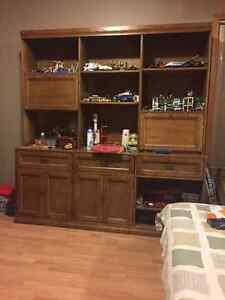 Sklar Peppler wood display cabinet, bookcase