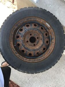 GOODYEAR NORDIC 185/65/14 WINTER TIRES & RIMS GREAT CONDITION Cambridge Kitchener Area image 3