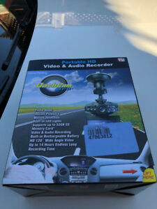 Car DashCam HD Video and Audio Recorder, new in box