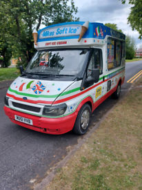 Geniune whitby mk6 transit soft ice cream van