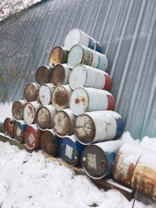 30 Gallon Metal barrels