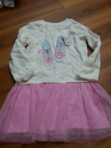 Girl shirt/dress (new) - size 3