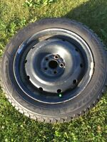 205/55R16 Goodyear Nordic winters on steel rims