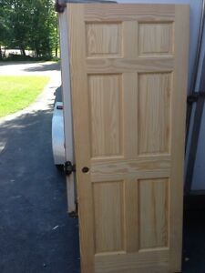 Clear Pine door slab store damaged