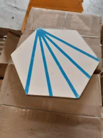 Hexagon Shaped Cement Tiles