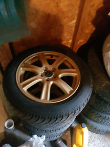 R16 Subaru alloys, winters hankook, powder coated