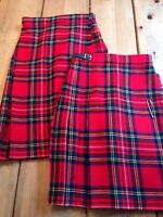 2 girls wool kilts