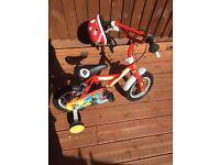 Childs post man pat bike and helmet