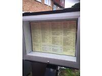Illuminated display front menu