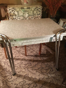 Antique kitchen table and chairs set $100