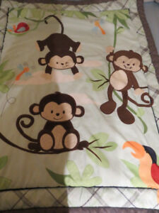 Monkey in the Jungle Baby Crib Bedding Nursery Set