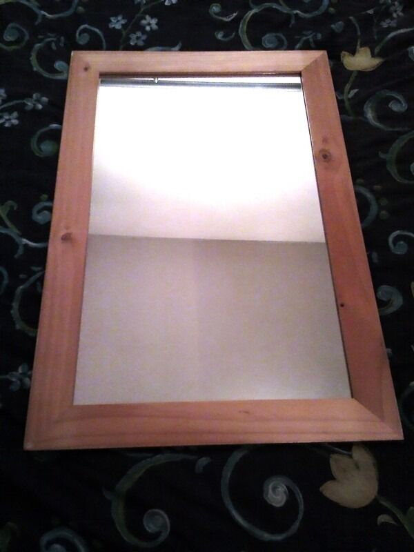 Large pine wood mirror 3 feet x 2 feet approx 610mm wide x for Long wide mirror