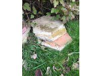 Hexagonal patio slabs x40(ish)
