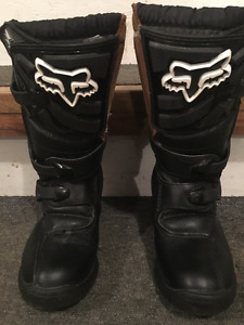 Fox Comp 3 motocross boots - size 1 Youth