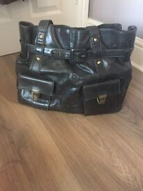 Monsoon Originals Leather black handbag