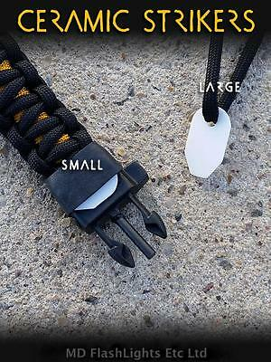WAZOO SURVIVAL GEAR CERAMIC FIRESTEEL FERRO ROD STRIKER BUSHCRAFT EDC PARACORD