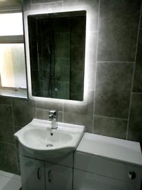Wet wall bathroom
