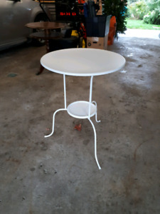 Metal table for sale.