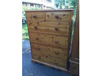 Very large solid pine chest of drawers with possible delivery