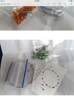 Beading kit for floating necklace and matching earrings