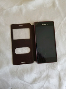 Sony experia with cover