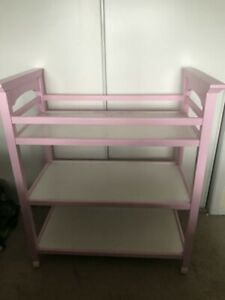 greco real wood change table painted pink
