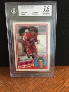 STEVE YZERMAN ...... GRADED ...... ROOKIE CARD ..... Beckett 7.5