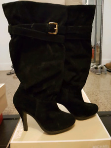 Michael Kors suede slouch boot