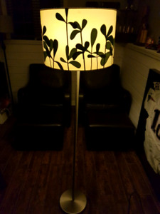 Decorative floor lamp with shade