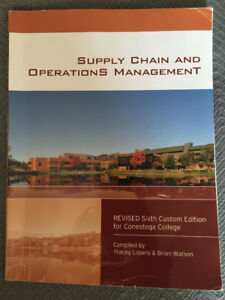 supply chain and operations management- conestoga college