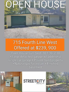 OPEN HOUSE! Sun Sept 10 (1:30-2:30pm), 715 Fourth Line W