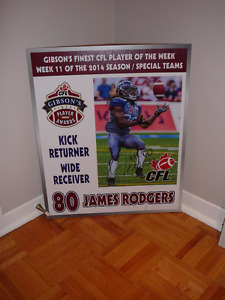 James Rodgers Authographed poster